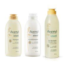 Kit Aveno Infantil Shampoo + Acondicionador + Gel De Baño