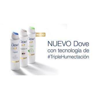 Desodorante Antitranspirante en Aerosol Dove Go Fresh Pepino y Té Verde 150ml