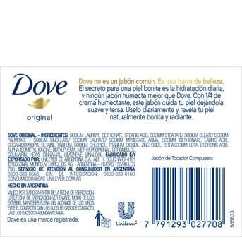 Jabón Pastilla Individual Dove Original 90g