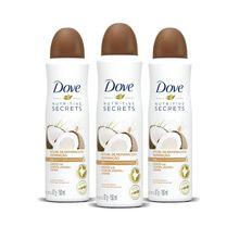Kit Dove Coco desodorante x 3 unidades
