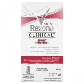 Desodorante Rexona en barra Men Clinical Sport Strength x48 G