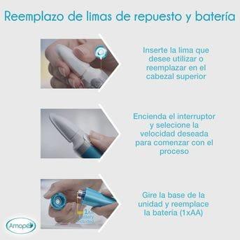 Lima Electrónica Para Uñas Lima Pulido y Brillo Amopé